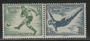 Germany Scott # B84, B83, mint nh, se-tenant, Mi# W105