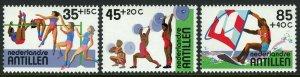 Netherlands Antilles B206-B208, MNH. High jump, Weight lifting, Surfing, 1983