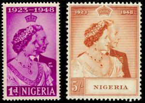 NIGERIA SG62-63, COMPLETE SET, NH MINT. Cat £17. RSW.