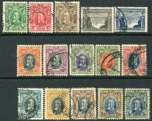 NORTHERN RHODESIA-1931-37 Set to 5/- Sg 15-27 FINE USED V35919