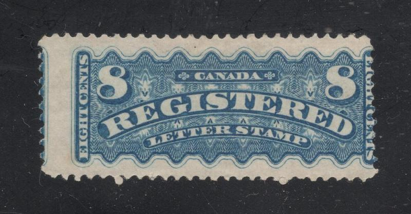 Canada #F3 Bright Blue - Registration - Cat. $450.00