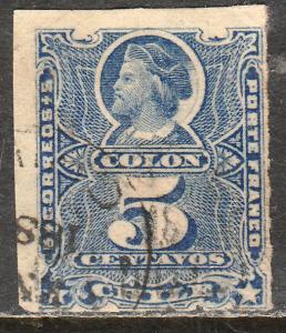 Chile 28, 5c Columbus. Used. F. (548)