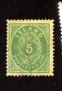 ICELAND #16 USED F-VF Cat $18
