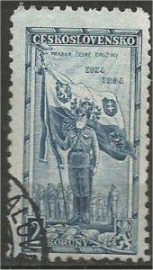 CZECHOSLOVAKIA, 1934, used 2k, Ensign Heyduk Scott 197
