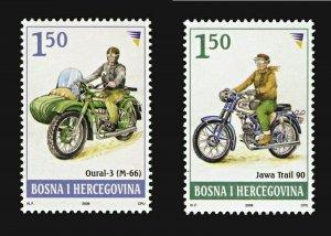 BOSNIA&HERZEGOVINA/2008, Motorcycle - Jawa Trail 90 & Oural 3, MNH