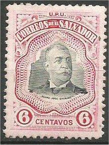 EL SALVADOR, 1906, MH  6c, Pres. Escalón, Scott 340