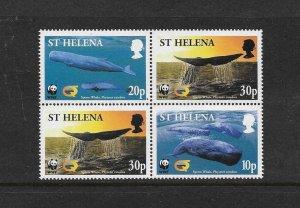 WHALES - ST HELENA #813-16  WWF   MNH