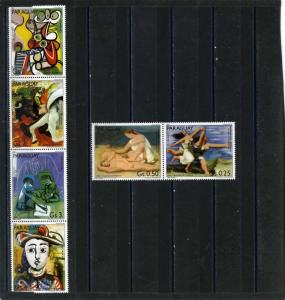 PARAGUAY 1981 Sc#2015-2016 PAINTINGS BY PABLO PICASSO SET OF 6 STAMPS MNH