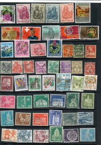 SWITZERLAND MIXTURE x 51 ALL DIFFERENT USED LOT h A