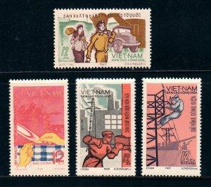 Vietnam 1970 MNH Stamps Scott 595-598 Industry Coal Mine Power Plant Electricity