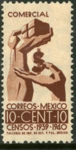 MEXICO 753, 10¢ Census, 1940. MINT, NH, VF,