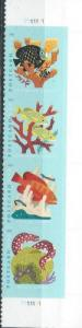 US 5363-5366 (mnh strip of four from sheet) (35¢) coral reefs (2019)
