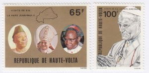Burkina Faso, Sc 528-529, MNH, 1980, Pope Paul II