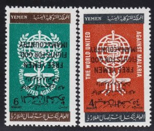 1962 Yemen / (Kingdom), Michel N° 33A/34A MNH / Inverted Overprint