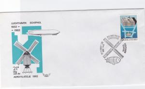 netherlands zeppelin airship stamps cover  ref r14480