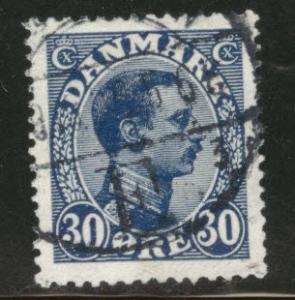 DENMARK  Scott 113 used 1925 stamp