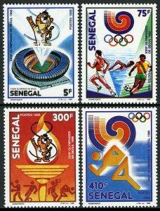 Senegal 786-789,MNH.Olympics,Seoul.Mascot;Running,swimming,soccer;Trademark,1988