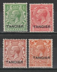 TANGIER 1927 KGV SET 1/2D TO 2D