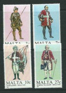 MALTA SG802/5 1987 MALTESE UNIFORMS MNH