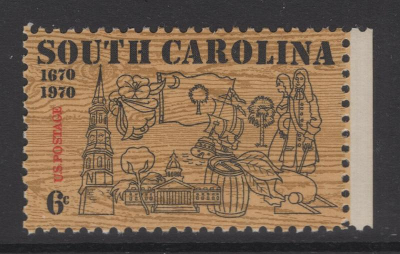 US 1970 6c Stamp South Carolina Scott 1407 MNH