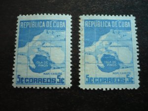 Stamps - Cuba - Scott# 437 - Mint Hinged & Used Single Stamps