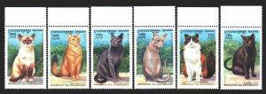 Cambodia. 1999. 1920-25. Domestic cats. MNH.