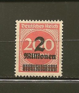 Germany 269 Surcharged MNH