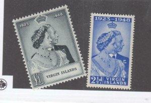 VIRGIN ISLANDS # 90-91 VF-MNH KGV1 1948 SILVER WEDDING (VI1)