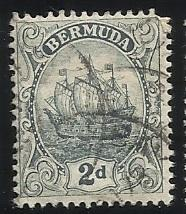 Bermuda SC 43 2p Used F/VF See Scan for Cancel, Centering, Perfs