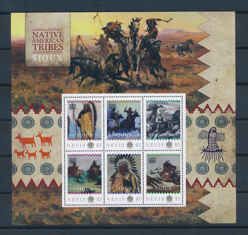 [80928] Nevis 2011 Native Americans Indians Sioux Sheet MNH