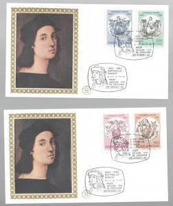 Vatican, 725-28. Theology First Day Cover (FDC) Set of 2, Used