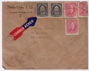 1931 Honduras cover to Ernest Abadie USA Pablo Uhler