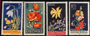 94963a - ROMANIA - STAMP - Yvert # 1469 / 72 - Mint Never Hinged MNH  Flowers