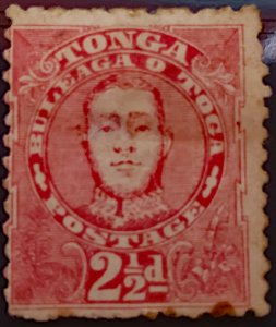 Tonga 1895 Scott 30 (SG33) 2 1/2d dull rose MH OG