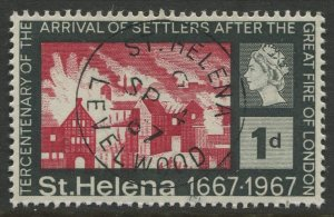 STAMP STATION PERTH St Helena #197 Tercentenary of Settlers 1967 VFU
