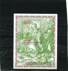 CENTRAL AFRICAN REPUBLIC 1979 Sc#390 PAINTINGS BY ALBRECHT DURER S/S MNH