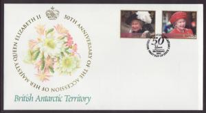 British Antarctic Territory 308,310 QEII Fleetwood U/A FDC