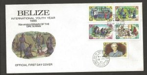 1985 Belize Girl Guides Lady BadenPowell FDC