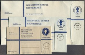 JERSEY & CHANNEL ISLANDS: 3 1970's? Mint Official Postal Stationery; Sizes G K H