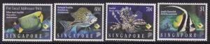 Singapore 1995, # 733-736 * MNH , Fish Set
