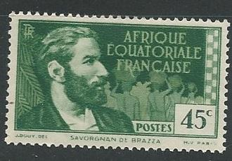 French Equatorial Africa  + Scott # 46 - MH