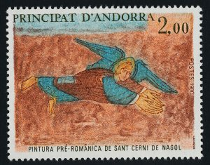 Andorra FR 284 MNH Art, Angel, Fresco, Church of St Cerni de Nagol