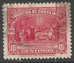 COSTA RICA 156 VFU COLUMBUS X870-2