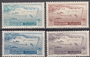 Syria, Sc C158-C161 (2), MH, 1950, Port of Lataka