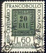 Centenary of the Stamps of Romagna, Italy stamp SC#790 used