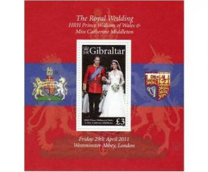 Gibraltar - Royal Wedding -  Stamp S/S GIB1105