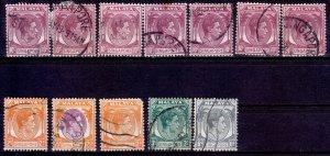 Singapore - #2,3,6,9,14 - 1948 - VFU - KGVI - CV6.00
