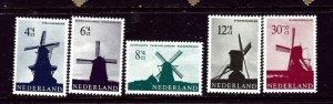 Netherlands B373-77 MNH 1963 Windmills    (ap3760)