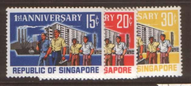 Singapore SG89/91 hinged mint
