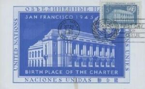 UN 12 5c UNITED NATIONS DAY 1952 - Velvatone Maxi